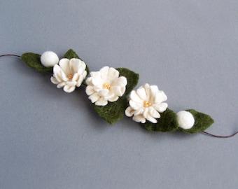 Marguerite headband fleur blanc ivoire collier Floral ceinture wrap bracelet Floral Bohème romantique mariage multi-usages