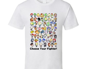 Super Smash Bros. Wii U / 3DS - All 58 Characters! - Cute White T-Shirt
