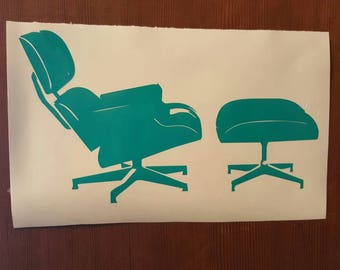 EAMES ERA Style  Chair Decal  Bumper Sticker  Atomic  MCM  Mid Mod Mid Century Modern
