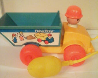 Vintage Fisher Price Dump Truck