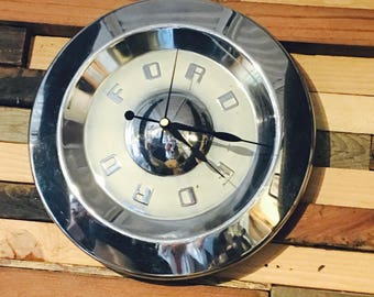 1950's Ford Hubcap Clock