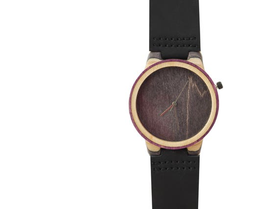 7PLIS watch #087 Recycled SKATEBOARD #madeinfrance Black beige purple gray