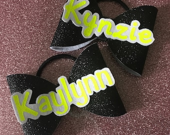 Tailless Name Hair Bow - Personalized for you looking for team orders message me for pricing