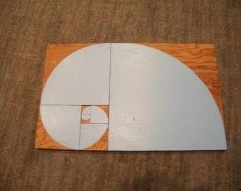 Montessori Golden Spiral Tiles (Fibonacci Series Sensorial Material)