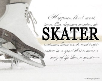 FIGURE SKATING SKATER Figure Skating Ice Skate Definition Photo Print
