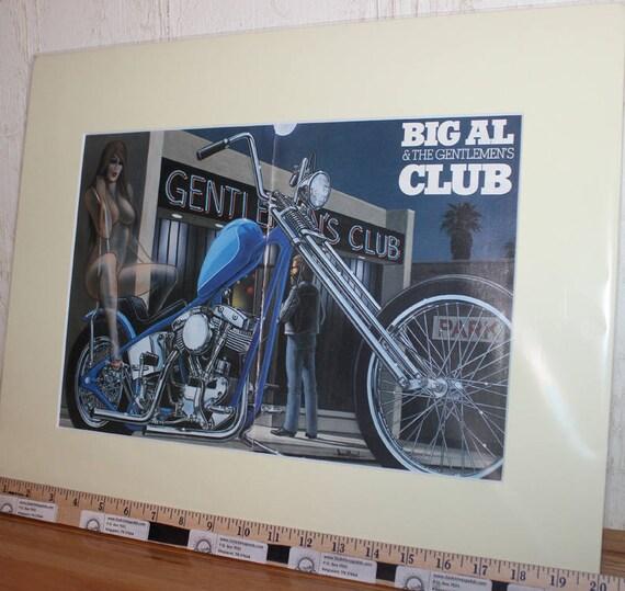 "David Mann ''Big Al & The Gentlemen's Club"" 16'' x 20'' Matted Easyriders Biker Motorcycle Art #9506ezrxmc"