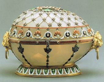 Faberge, Renaissance Egg, Giclee Print, Russian Easter Eggs, Imperial Eggs, Russian Art, Carl Faberge, Egg Print, Russian Royalty, Egg Art