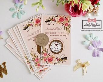 20 Scratch Off Bridal Shower Game Cards, Bachelorette Party Game cards, Engagement Party Game cards, Wedding Bridal Shower Scratch Off Game