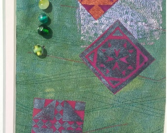 Green with Beads