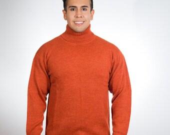 Turtleneck Alpaca Sweater Cardigan