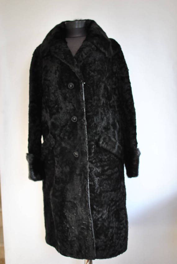 fur LAMB elegant Vintage COAT 514 coat with FUR collar fur Fox women's z8wfd