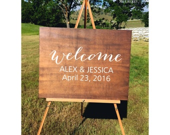 Wedding Welcome Sign, Welcome Sign, Rustic Wedding Sign, Rustic Wood Sign, Wood Wedding Sign