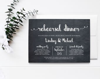 Hearts Rehearsal Invitation - I Do Heart You Collection - Printable Rehearsal Invite - Printed Wedding Rehearsal Invitations