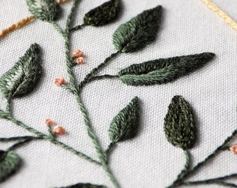Hand embroidery pattern PDF / Serenity Figure 2 / by StitchFloral / embroidery tutorial, digital download