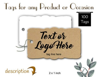 Custom Tags, Jewelry Tags, Clothing Tags,  Product Tags, Merchandise Tags, Gift Tags, Thank You Tags, Price Tags