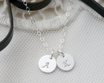 Sterling Silver Initial Necklace, Initial Necklace, 1 2 3 4 Initial Necklace, Dainty Everyday Necklace, Mom Necklace, Best Friends Gift