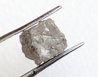 1 Pc 5mm Grey Rough Diamond Cube, Grey Diamonds, Loose Diamonds, Rough Diamonds, Raw Uncut Diamonds - DS3720