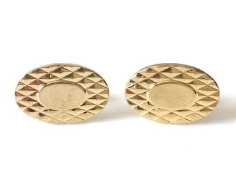 Anson 12K Gold Filled Oval Cufflinks