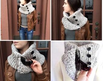 Hand Crocheted Pocket Cowl -