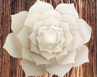 Paper Flower Template (DIGITAL PDF), DIY Paper Flower Template, Print Ready Flower Template, Instant download Flower Template