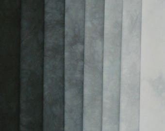 Hand Dyed Fabric Shades - Black