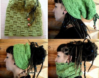 Hat for dreads 139 produced entirely by hand crochet!