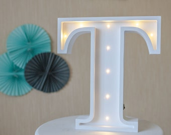 Housewarming gift Letter lights Marquee letter light Marquee letters Wooden letters Night light