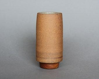 Tapered Vase with Mahogany Base