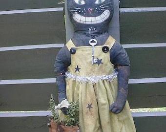 PATTERN Trick or Treat Black Cat Doll Halloween epattern