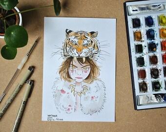 original illustration - Savage (watercolor)