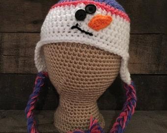 3/6 month Snowman Hat