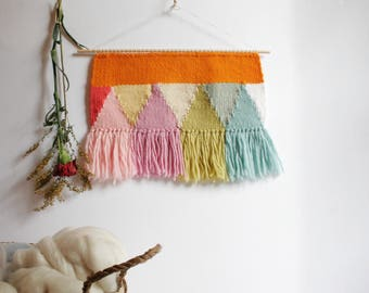 Handwoven Wall Hanging, Wall Art, Weaving, Textile Art, Bedroom Art, Living Room Art, Nursery Art, Baby Room Art, Dorm Art, Christmas Gift