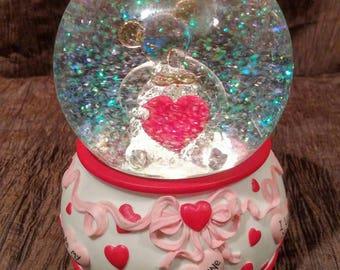San Francisco Music Box Company Valentine musical light up water globe, free shipping