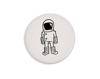 Astronaut Magnet Gift for Him Pinback Button Brave Moonman Cool Pin Spaceman Magnet Science Gift for Him Outer Space