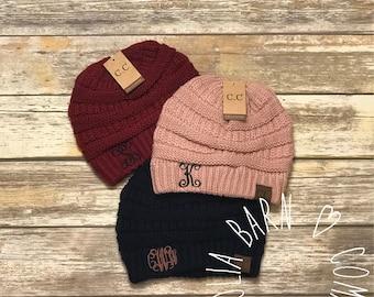 Monogram CC Beanie Hats, Skullies, Winter Hat, Beanie Hat, CC Beanies, Monogram Hat, Monogram Beanie, Monogram Skullie