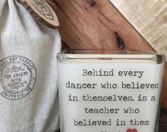Dance Teacher Gift  * Dance Teacher Candle *Dance Recital Gift * Gifts For Teacher * Dance Candle * Dance Coach * Ballet Teacher Gift
