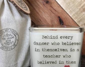 Dance Teacher Gift  * Dance Teacher Candle * Teacher Appreciation * Gifts For Teacher * Dance Candle * Dance Coach * Ballet Teacher Gift