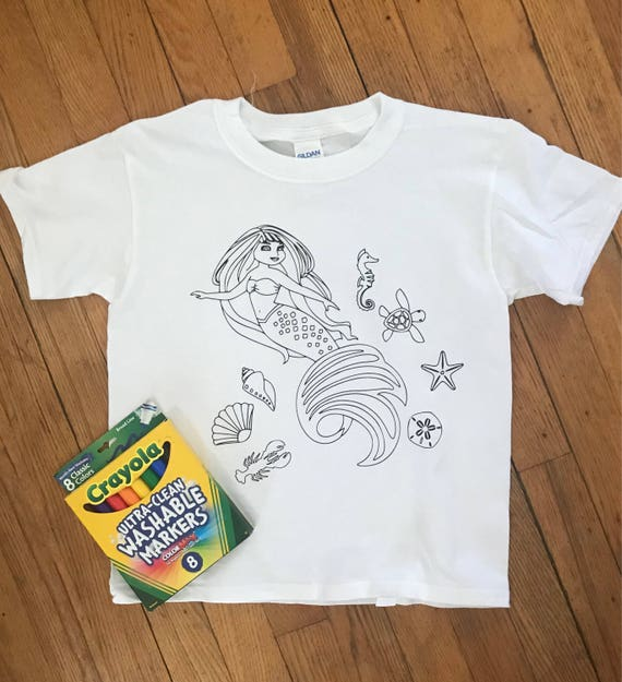CUSTOM kids coloring t shirt Color your own shirt