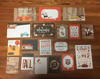 Echo Park PERFECT AUTUMN project life cards - set of 18