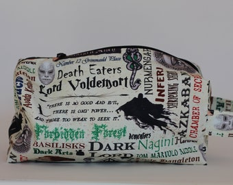 Ready To Ship The Dark Arts Medium Knitting & Crochet Project/Toiletry Box Bag