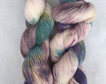 Hand dyed yarn/ Lavender Fields