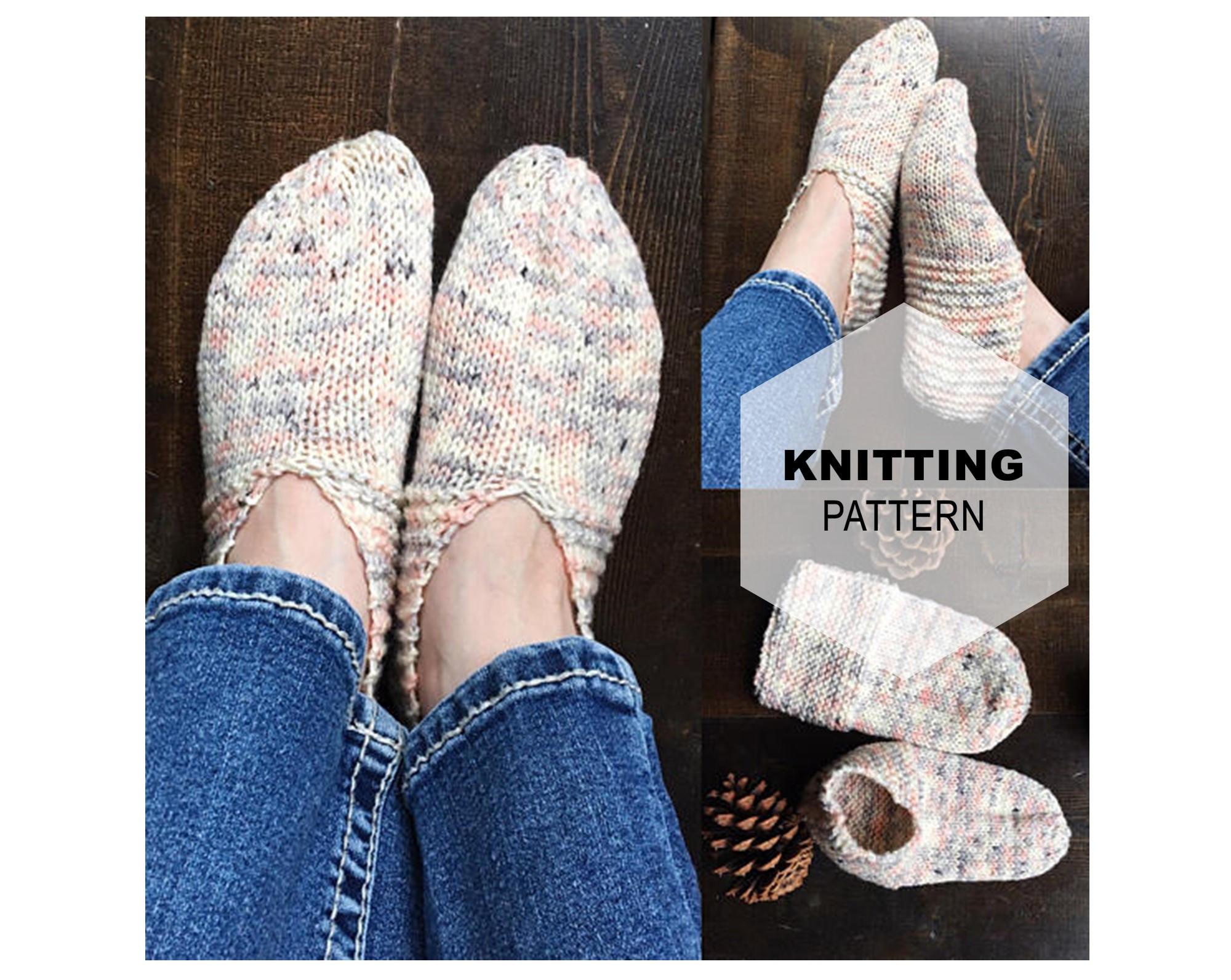 Knitting Grandma Slippers : Vintage knit slipper pattern