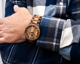 FREE Engraving, Wood Watch, personalized mens watch, engraved watch, Groomsmen gift, custom wood watch, boyfriend gift, company gift, TOP100