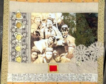 Wall Hanging Quilt Civil War Remembrance from Grandpa Buttons and Lace