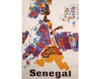 SENEGAL 1S- Handmade Leather Journal / Sketchbook - Travel Art
