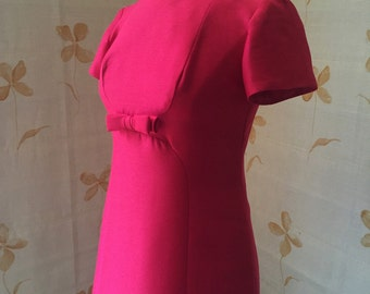 1960s vintage mod scooter silk dress fully lined