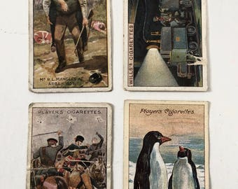 Four Cigarette Cards, three Players,one Will's