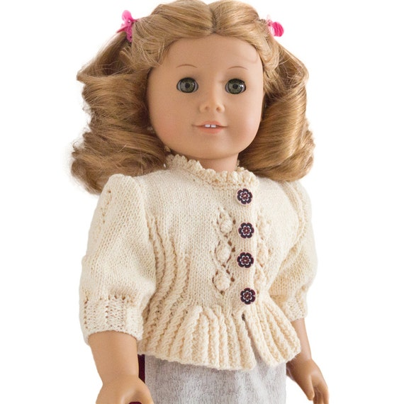 Dirndl Cardigan Knitting Pattern For 18 Inch Doll Fits