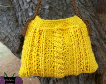 Chic Cables Handbag - PDF crochet pattern ONLY - cables, purse, bag