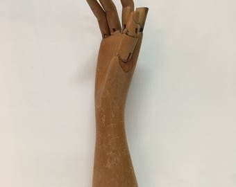 Adjustable Wooden Mannequin Hand // Artist / Sketch / Drawing / Draw / Painting / Art Class  /Model / Jewelry Display / Decor //